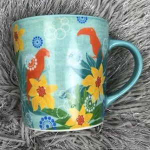 STARBUCKS 2006 TROPICAL PARADISE BIRDS FLOWER MUG